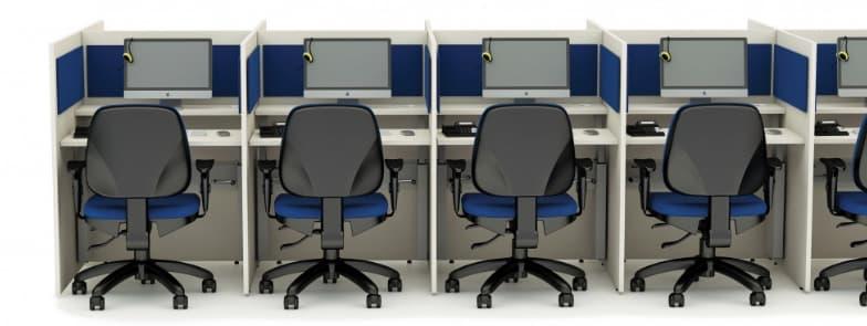 Mobiliario para call center e telemarketing Dtec